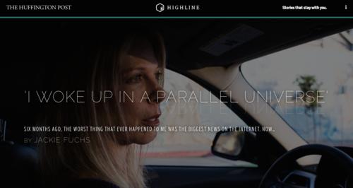 圖3 美國媒體Huffington Post所開闢的Highline專區