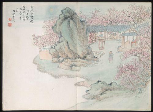 圖四 董燿繪《杏林承露圖》(1858)