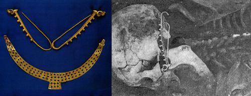 圖4蒙古杭愛省出土胸頸飾與耳環