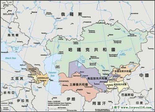 圖1 中亞地圖