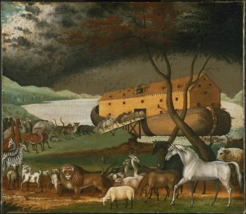 圖十:美國畫家希克斯 (Edward Hicks, 1780-1849) 於一八四六年繪製的諾亞方舟 (Noah's Ark)。