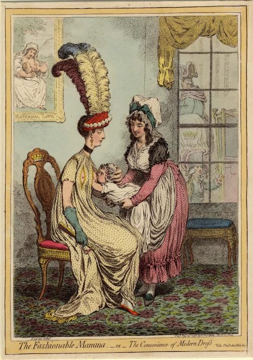 圖6 一幅題為《潮媽》(fashionable mama ) 的作品。