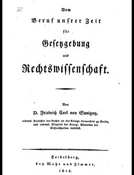 圖6 《論當代對立法與法學的使命》原封面。(資料來源:巴伐利亞邦立圖書館。)