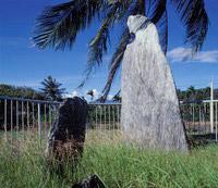 卑南文化公園中的板岩石柱