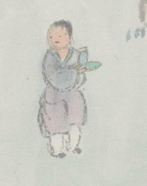 圖六 董燿繪《杏林承露圖》局部(1858)
