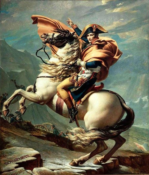 圖7 Napoleon Crossing the Alps