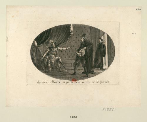 圖2 高等法院在司法身邊的最後一搏,1790年(資料來源:法國國家圖書館)