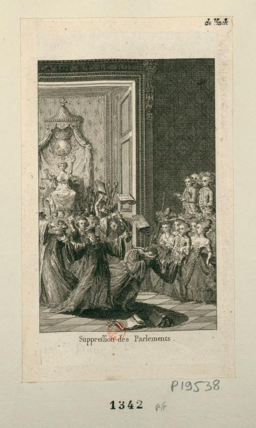 圖3 高等法院裁撤,1790年(資料來源:法國國家圖書館)