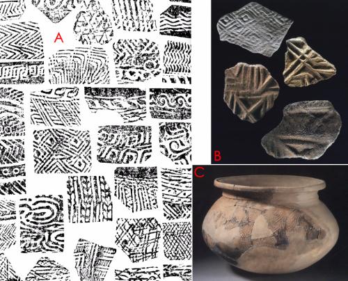 06佛山河宕遺址出土幾何印紋陶片與珠海寶鏡灣的幾何印紋陶片與陶釜