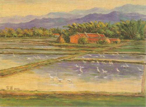 黎蘭的油彩畫作